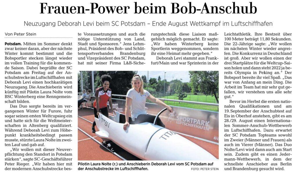 Frauen-Power beim Bob-Anschub